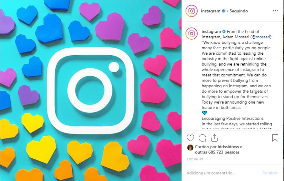 Instagram oculta curtidas nas fotos veja o que muda