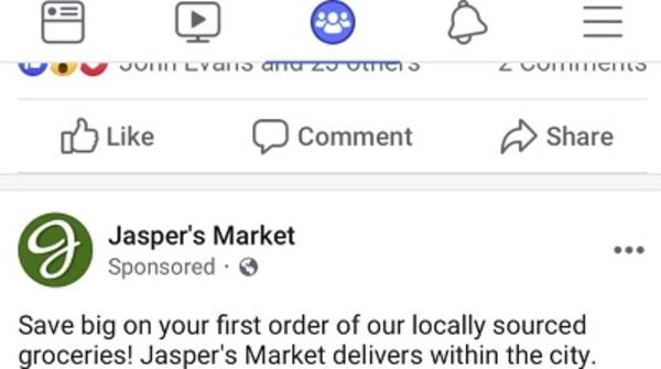 anúncios de pesquisa facebook